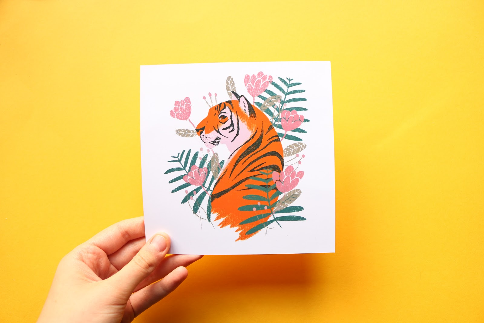Eliott Bulpett tiger illustration