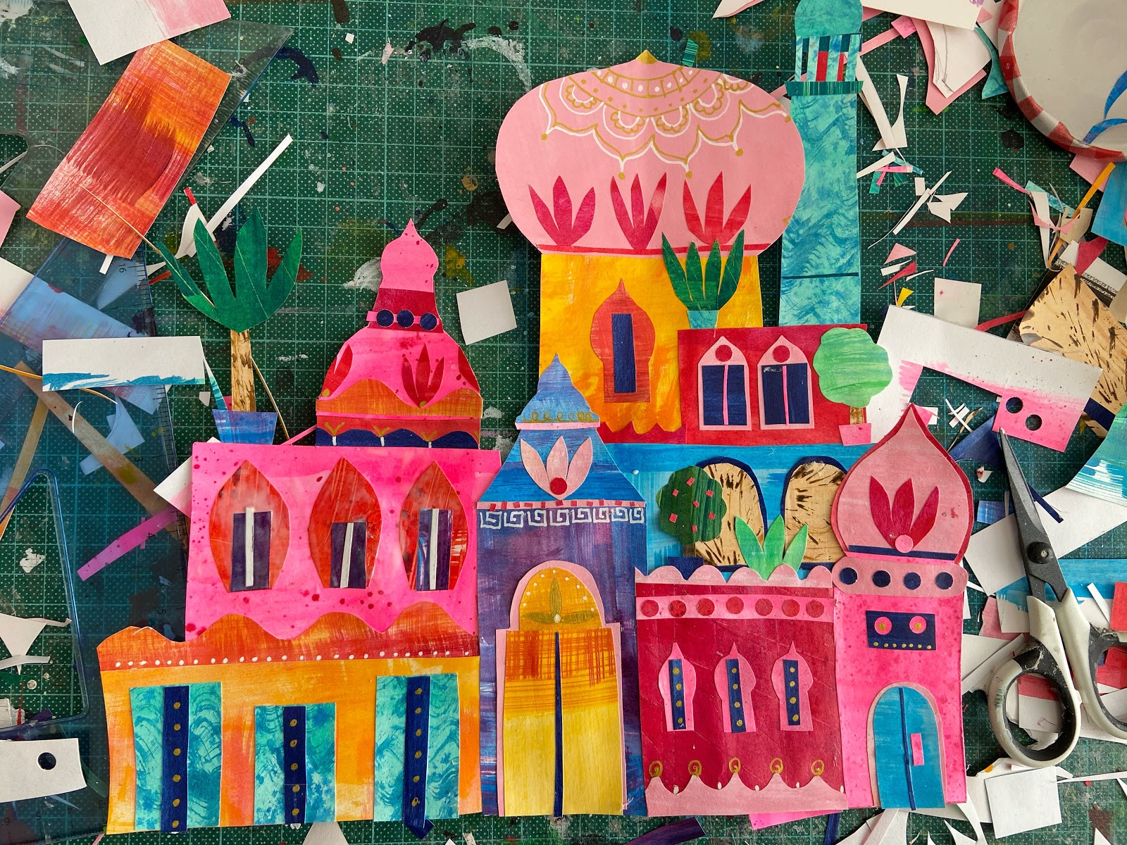Tracey English India collage art