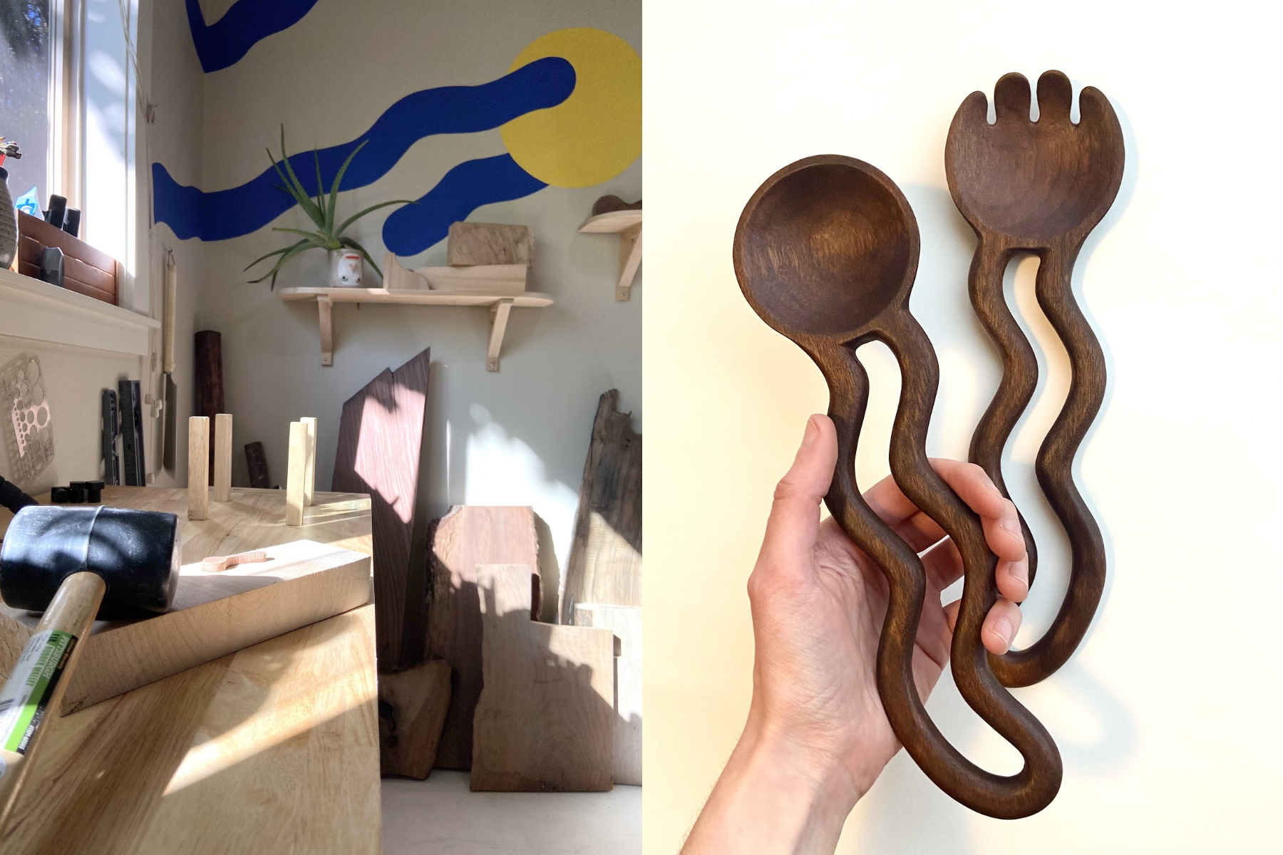 Wood carver Anya Walker featured