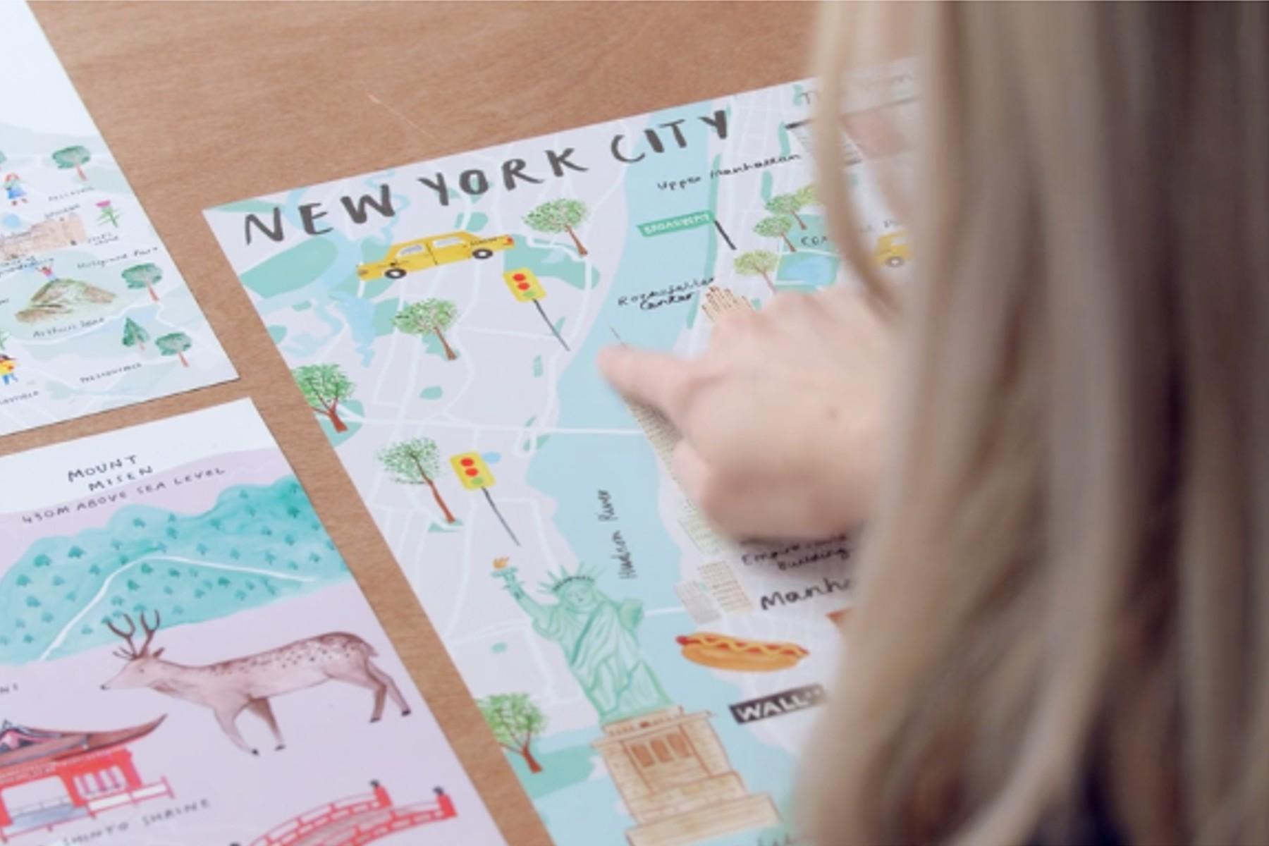 Feature image map illustration classes